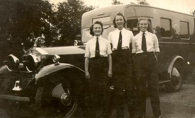 Civil Defence Ambulance Drivers in England, in 1942. Courtesy the Oakville Museum.