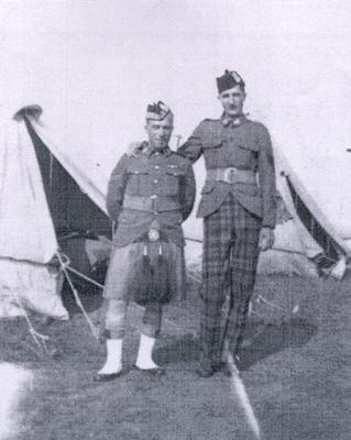 Sergeant Percy Spurgeon (right) with Tommy Ewing (left)