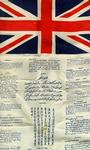 Cloth flag issued to pilots with messages asking for assistance from local allies in several languages