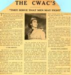 "Newspaper clipping ""The CWAC's: They Serve that Men May Fight"""