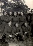 Harry Barrett (back row, third from left) with unit in Germany, Second World War.